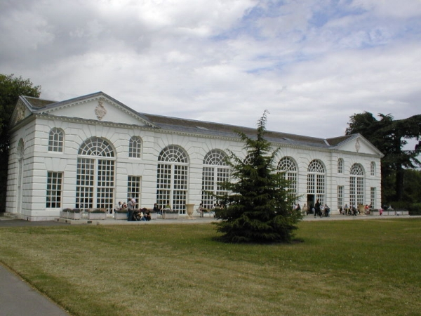 While this orangerie at the Royal Botanic Gardens in London is grand, it is quite simple when compared to other great orangeries of Europe.