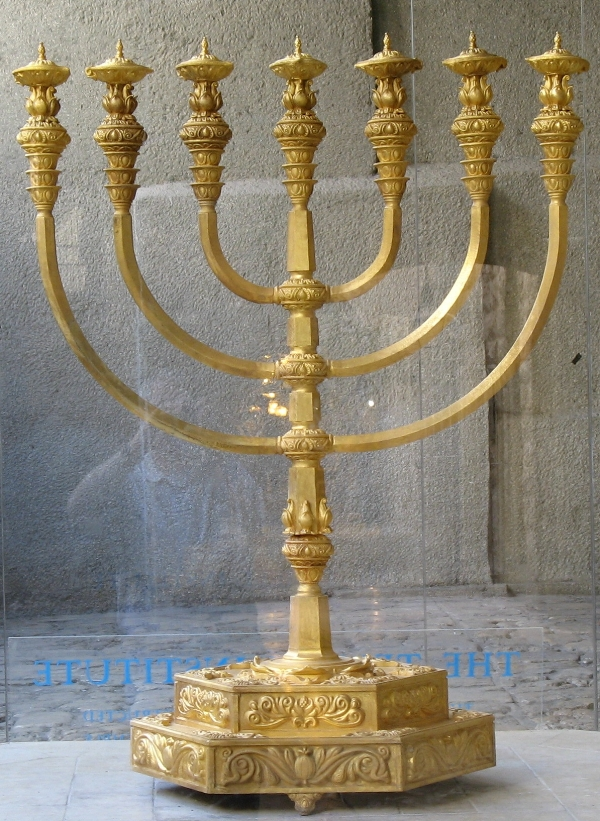 Bobeches can be seen on the Menorah of the Temple at the Temple Institute, Jerusalem.