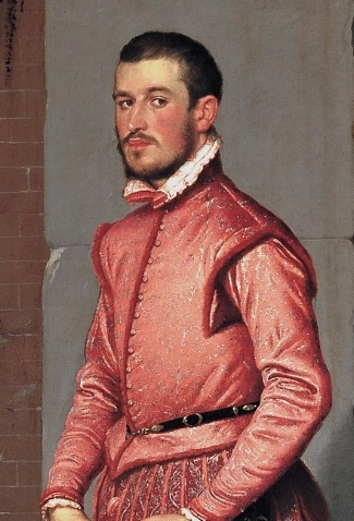 Portrait of Gian Gerolamo Grumelli  (c.1555-60)  by Giovanni Battista Moroni