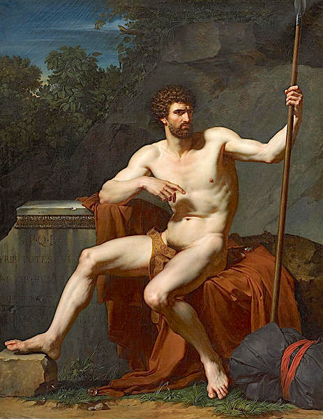 Roman Soldier  (c. 1788)  at Rest by Francois Xavier Fabre