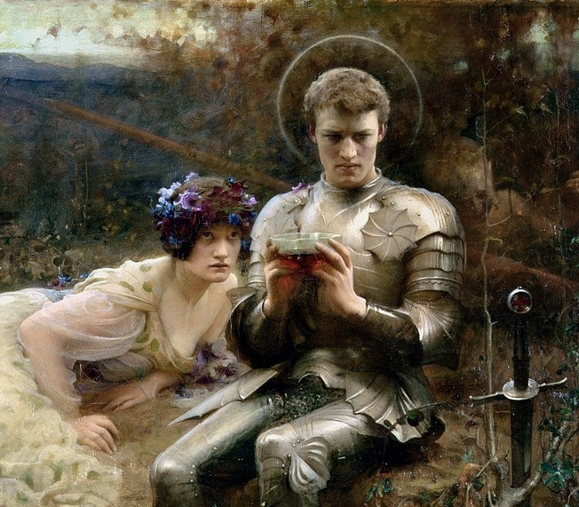 The Temptation of Sir Percival by Arthur Hacker (c. 1894)