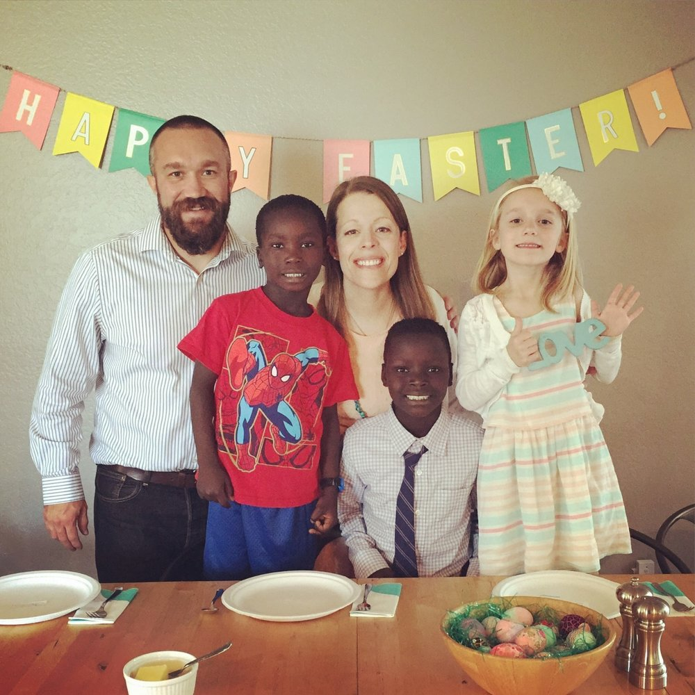 Brian Zunigha with his wife, Jen, and their three children