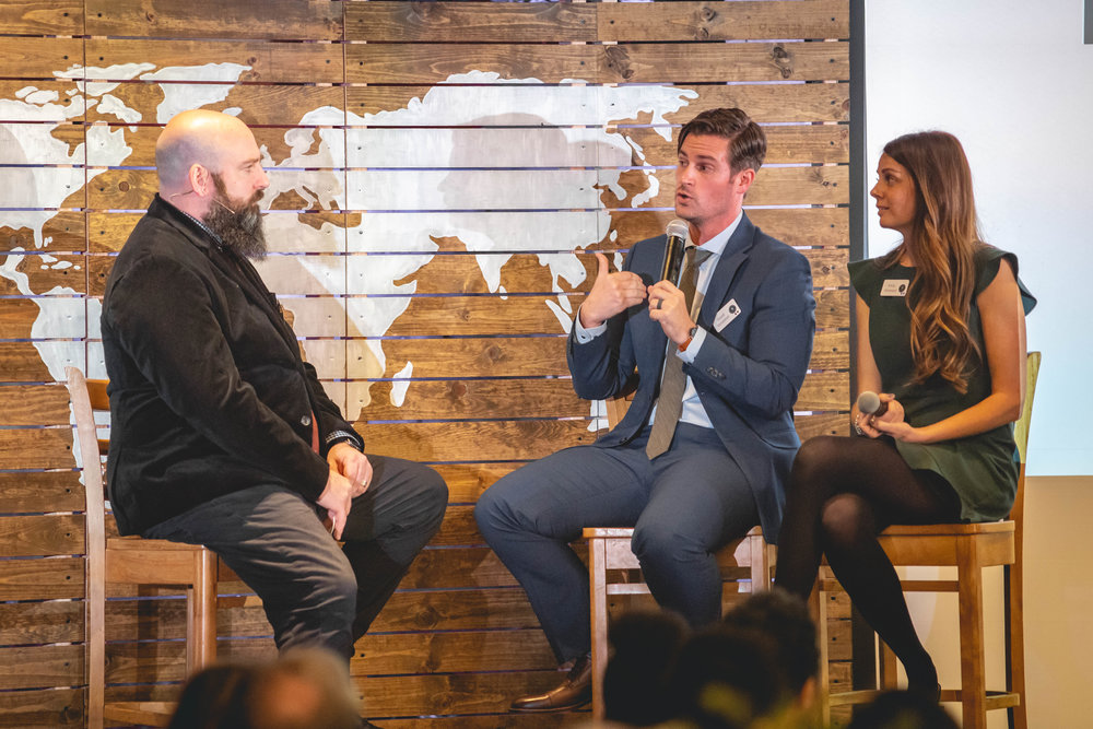 Justin Pardee interviews David and Emily Rimestad at the 2019 Spring Vision Dinner in Redlands, California.