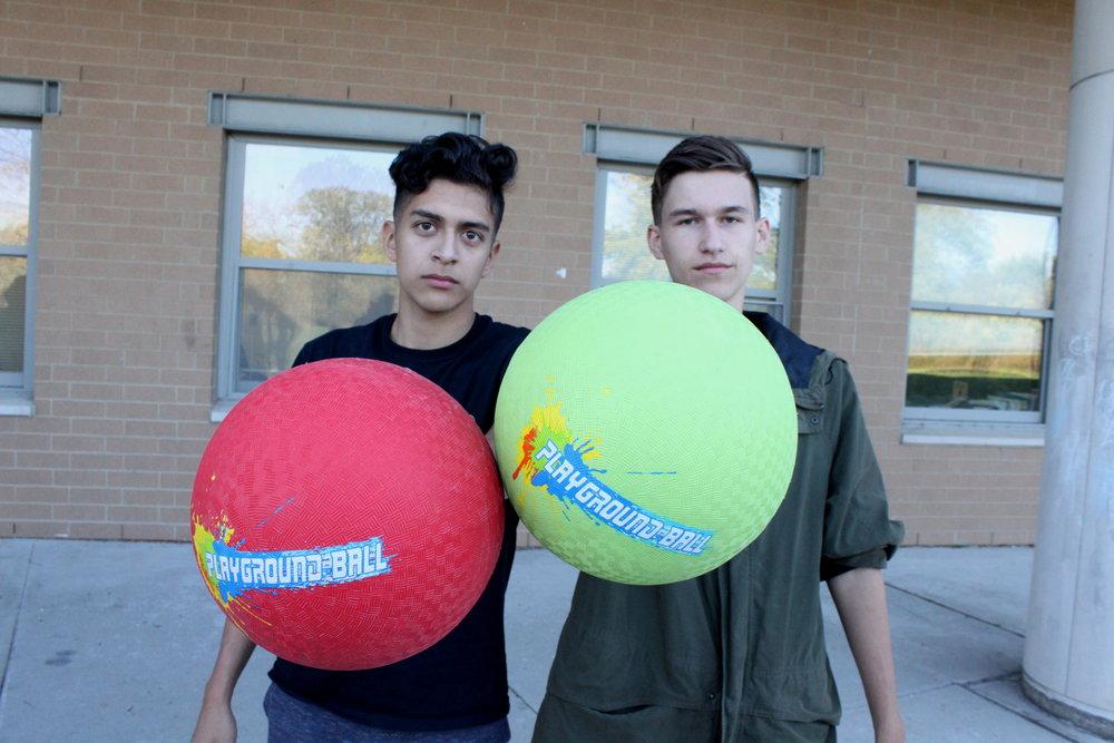 Co-presidents Fernando Velazquez and Blake Lehman.
