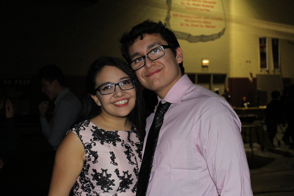 Ruth Calix and Eric Roman are all smiles as they spend the dance together.
