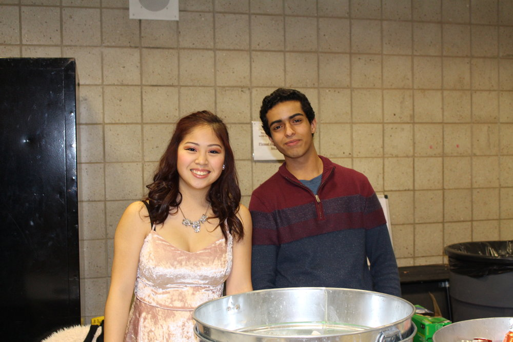 Kristina Raguay and Younes Deiban man the concessions.