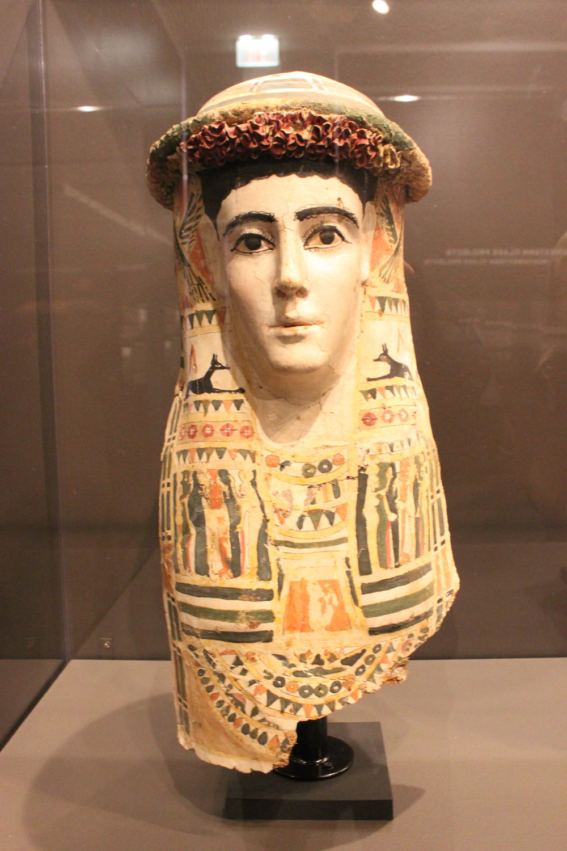 Mummy Mask - Ptolemaic - Roman (mid-3rd century BCE - mid 2nd century CE)
