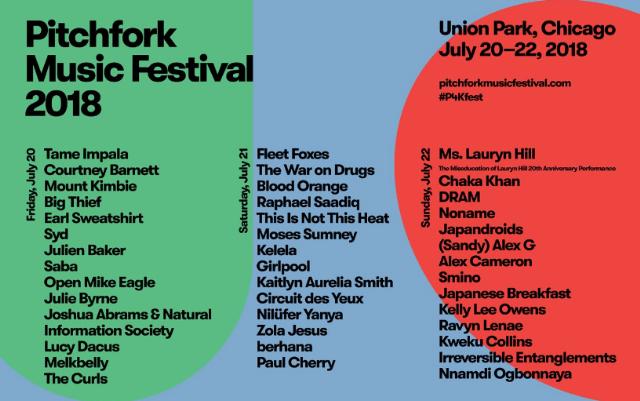 Pitchfork 2018 Lineup