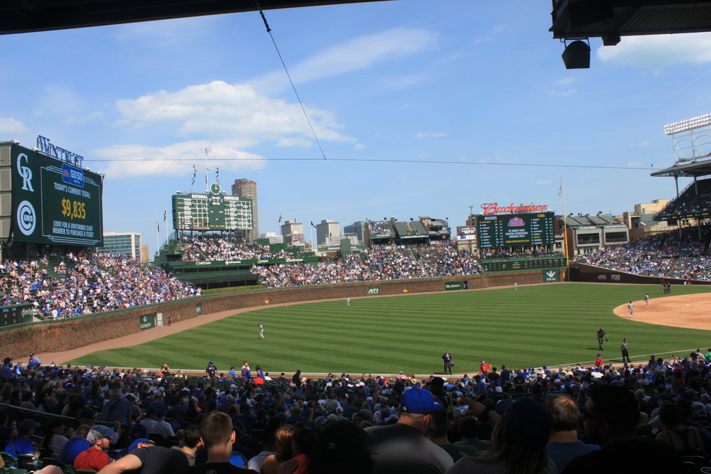 Unlike years past, it was a perfect day to watch a baseball game.
