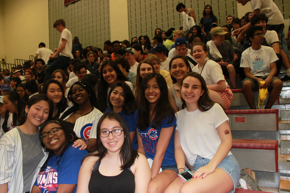 The Northside Juniors are excited as they await for the pep rally to commence.
