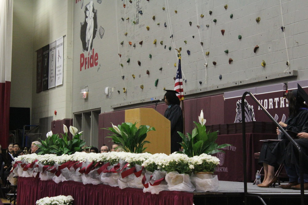 Ms. Mest gives graduates five pieces of advice to take with them on their college journey