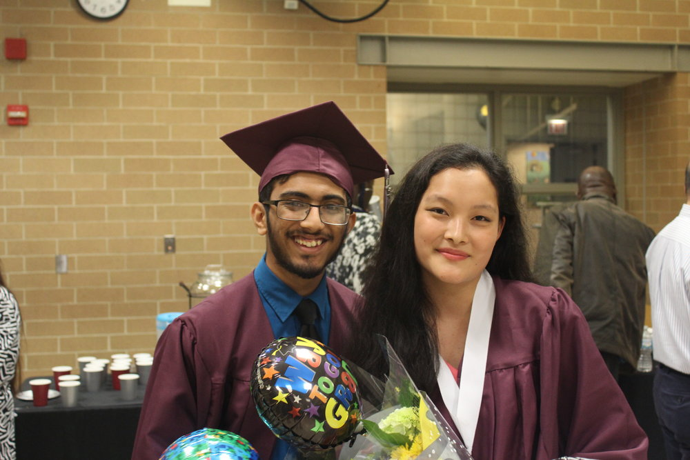 Alymuhammad Gilani, Adv. 806, and Brenda Xu, Adv. 801, recall memorable times at Northside and promise to visit in the future