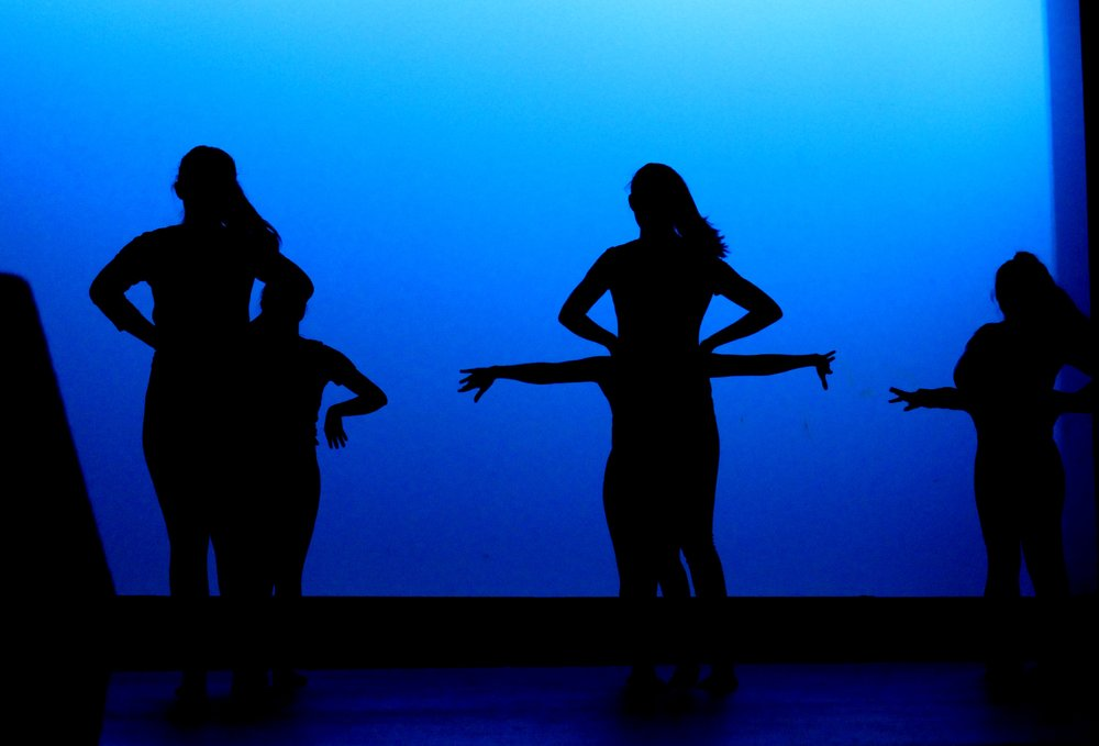 Silhouettes of the Sabor girls.