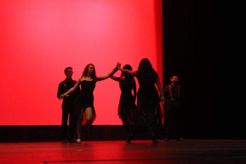 The Tango Nuevo girls' intense choreography.