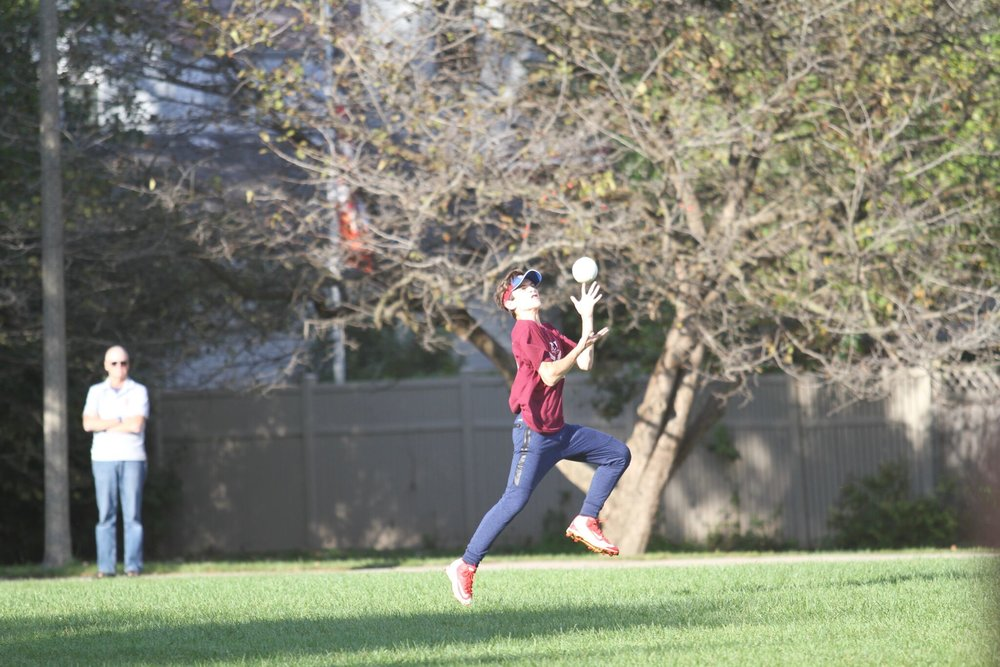 Liam O'Connor, Adv. 004, made a critical catch in center field to end the second inning.