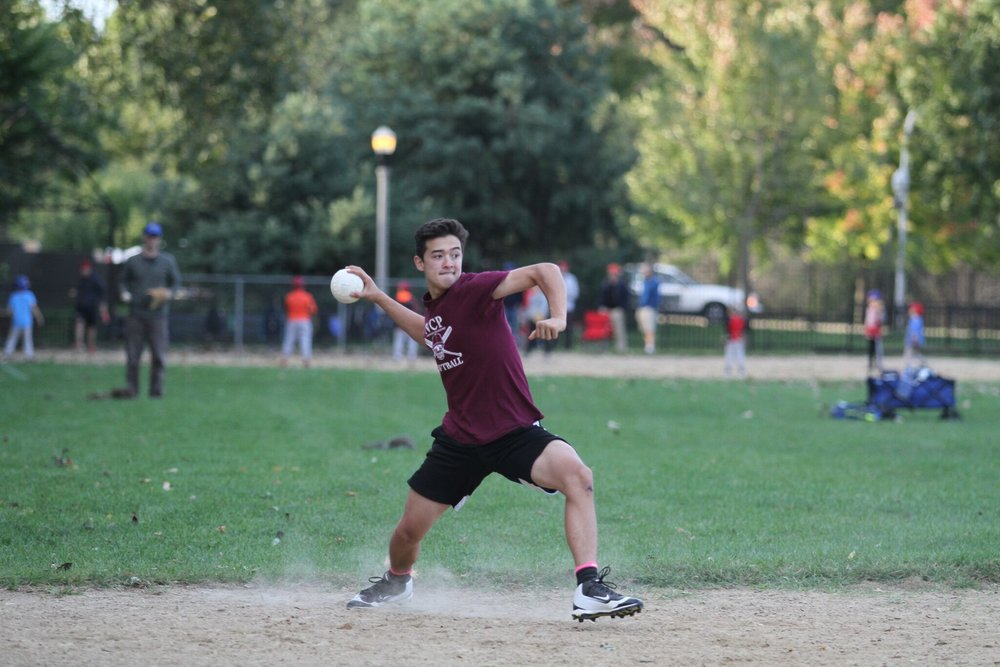 Jake Trick, Adv. 006, threw to first to file away a much needed out.