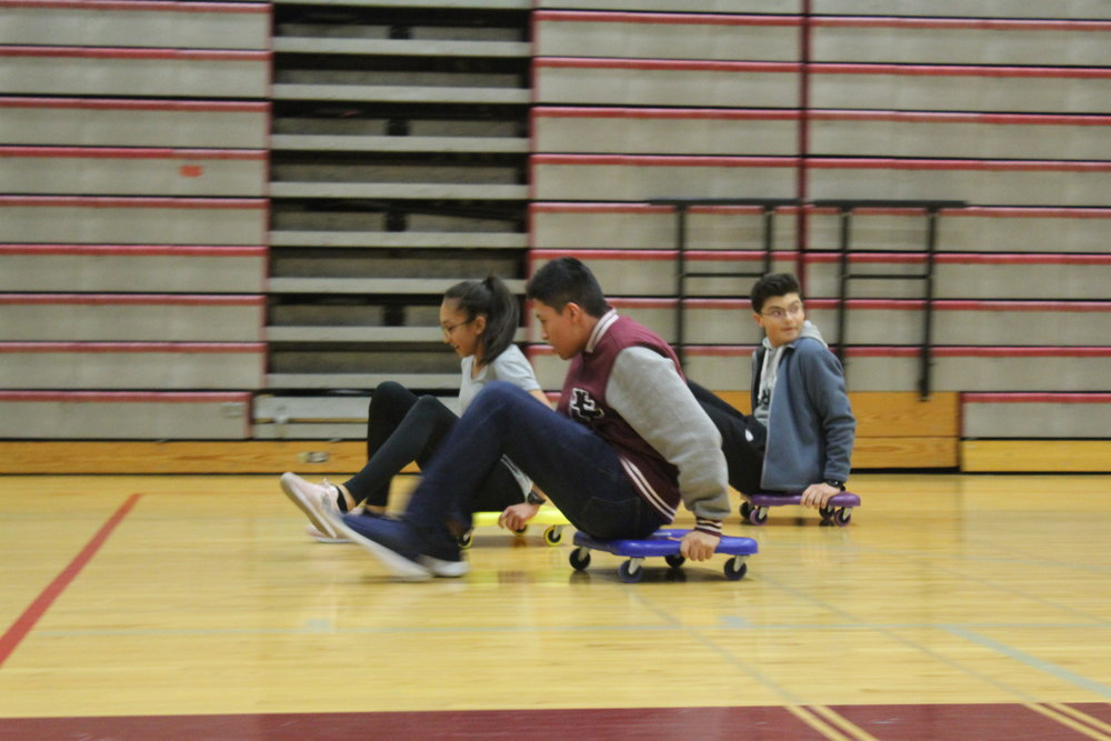 A close finish to the Scooter race between Advisories 206, 207, 208, 209