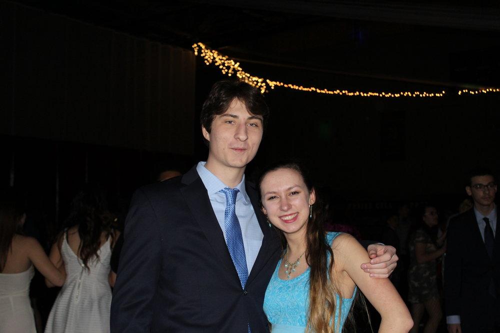 Gabriel Neff (Adv. 902) and Sarah Buttitta (Adv. 000) pose together