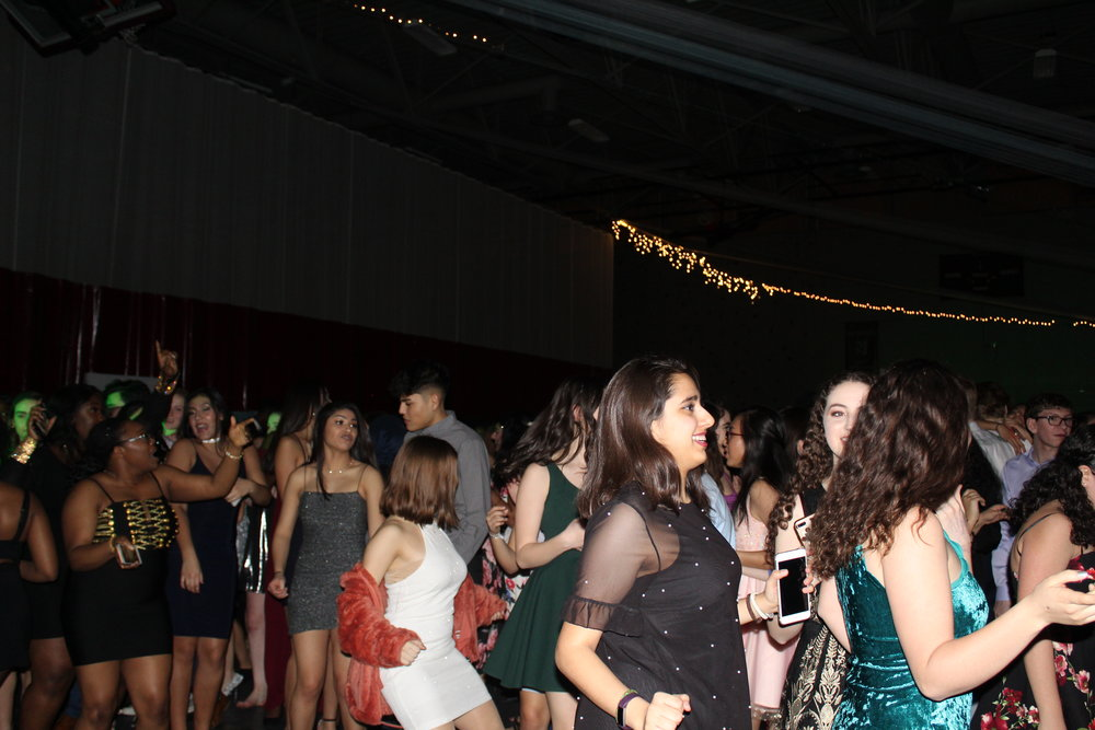 Students join together to dance to the Cupid Shuffle