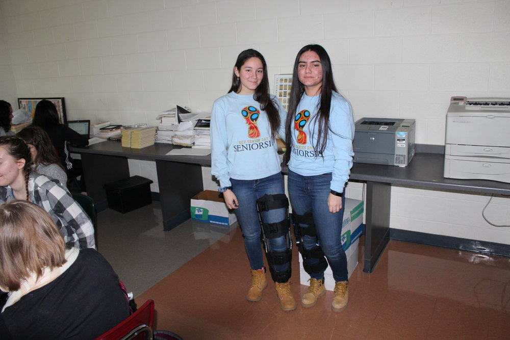 Adriana De Santiago, Adv. 901, and Sasha Aristizabal, Adv. 907, are boot buddies for twin day