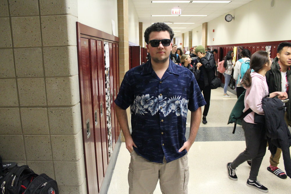 Iari Figueredo, Adv. 104 does his best tourist impression for Vacation Friday