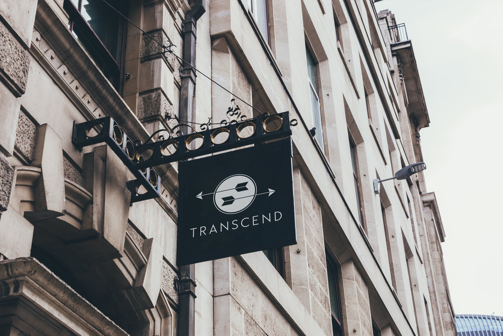 Logo Design on Sign for Transcend Marketplace | Atlanta Designer