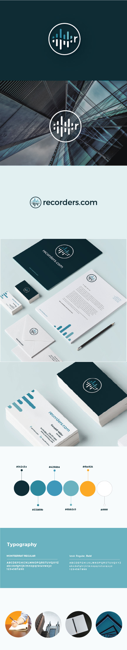 Visual Identity and Brand Board for Recorders.com | Atlanta Graphic Designer