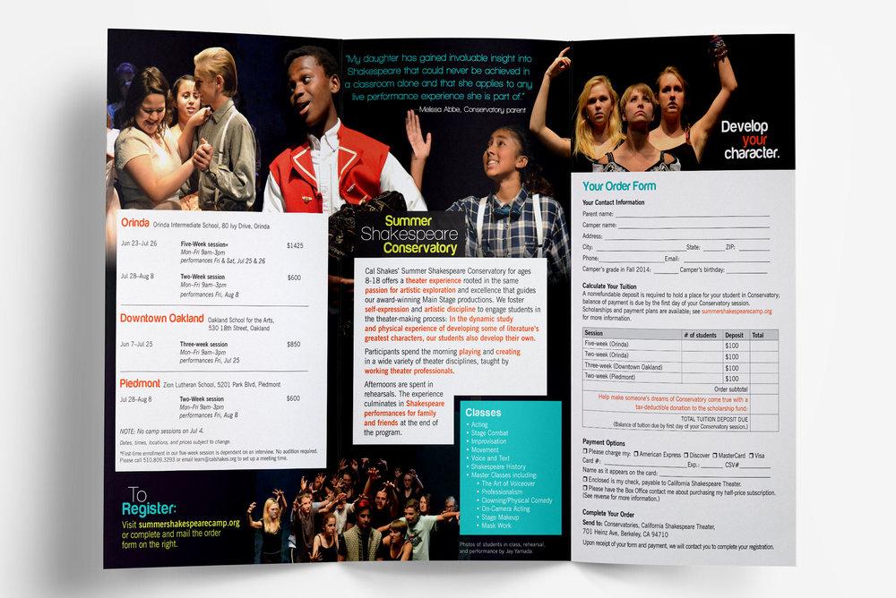 Marketing brochure graphic design by Callie Cullum