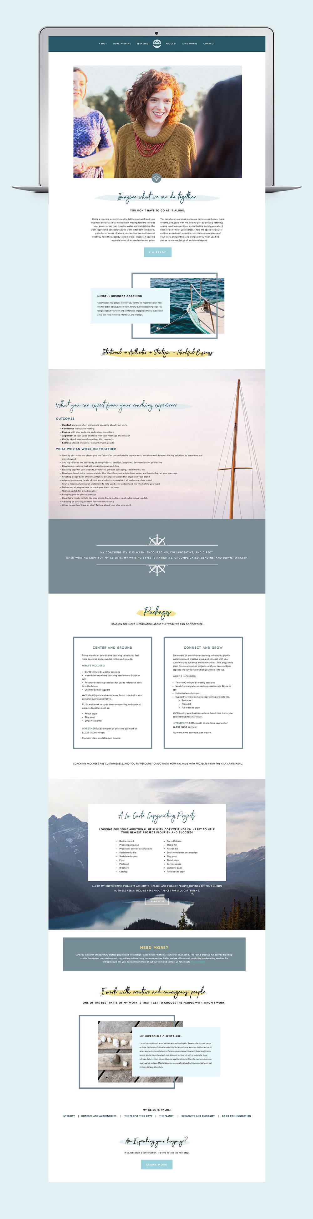 Custom Squarespace design for your online business.