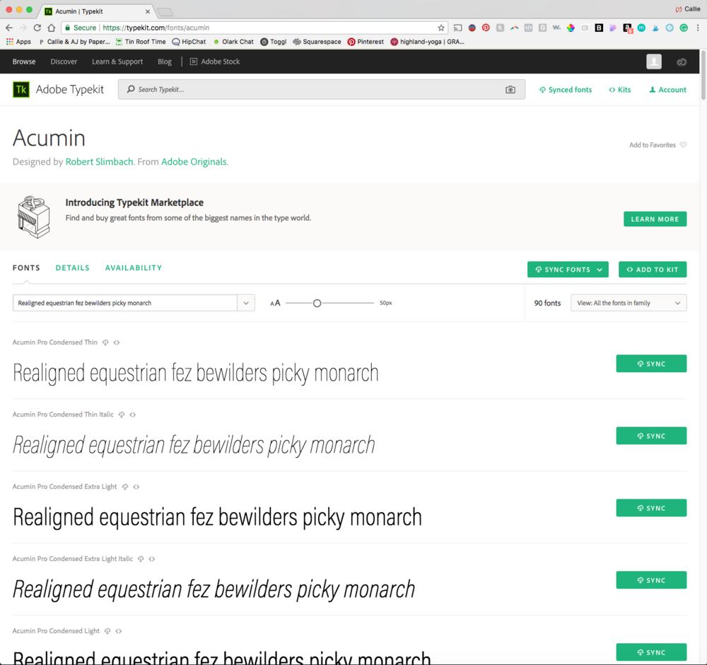 Adding a custom font from Adobe Typekit to your Squarespace website. Atlanta graphic design & branding