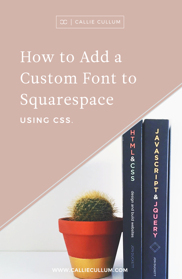 How to add a custom font to Squarespace via CSS. Don't see your font listed in Squarespace's list of font choices? Don't worry, with simple CSS you can add any font you want onto your website so that you can stay on brand!