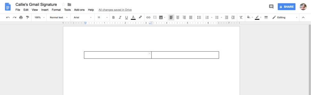 Creating a table in Google Docs is simple. Having a branded Gmail Signature will help your brand stand out among the rest.