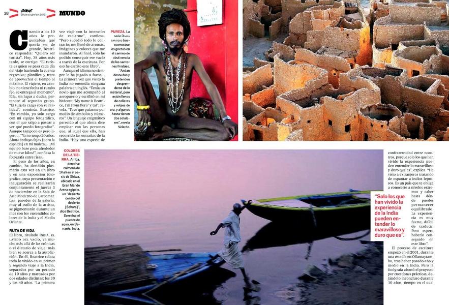 Revista Somos Exposición BEATRICE VELARDE FOTOGRAFÍAS.