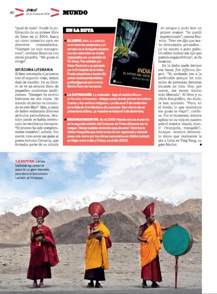 Revista Somos. Exposición BEATRICE VELARDE FOTOGRAFÍAS.