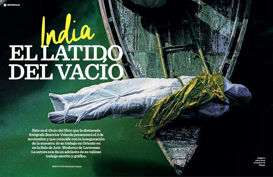 Revista Caras. Libro de narrativa INDIA EL LATIDO DEL VACÍO.
