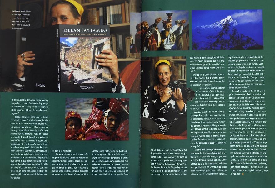 """Revista Voces. Entrevista por libro fotográfico """"OLLANTAYTAMBO""""."""