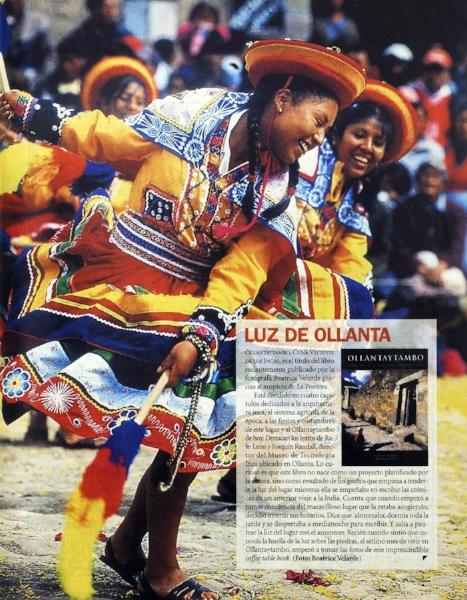 """Revista Somos.   Libro fotográfico """"OLLANTAYTAMBO""""."""