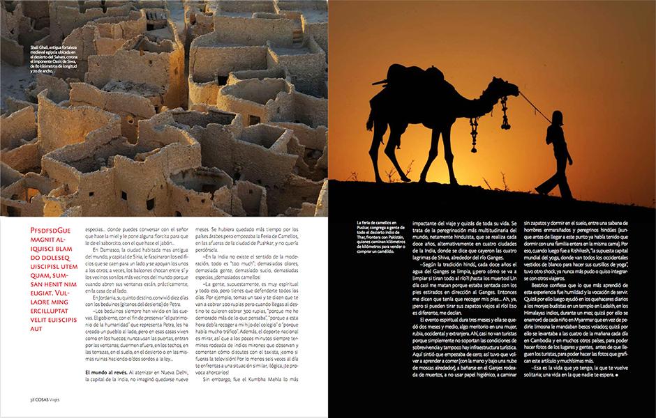 Revista Cosas. REPORTAJE FOTOGRÁFICO. Textos de Gabriel Gargurevich.