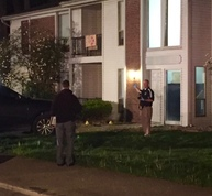 Scene at Garden Quarter Apartments following shooting on Friday evening. Photo: Indiana State Police