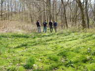 L to R: ISP Detective Mike Taylor, ISP Detective Don Curtis, ISP CSI Sgt. Jim Cody and ISP Detective Sgt. Sam Stearley, viewing the scene in Putnam County. Photo Courtesy of Indiana State Police.