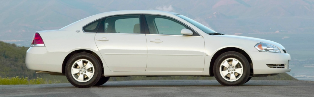 This is not Mr. Kennedy's car, but it is a photo of a white 2010 Chevrolet Impala that would be similar to Kennedy's vehicle.