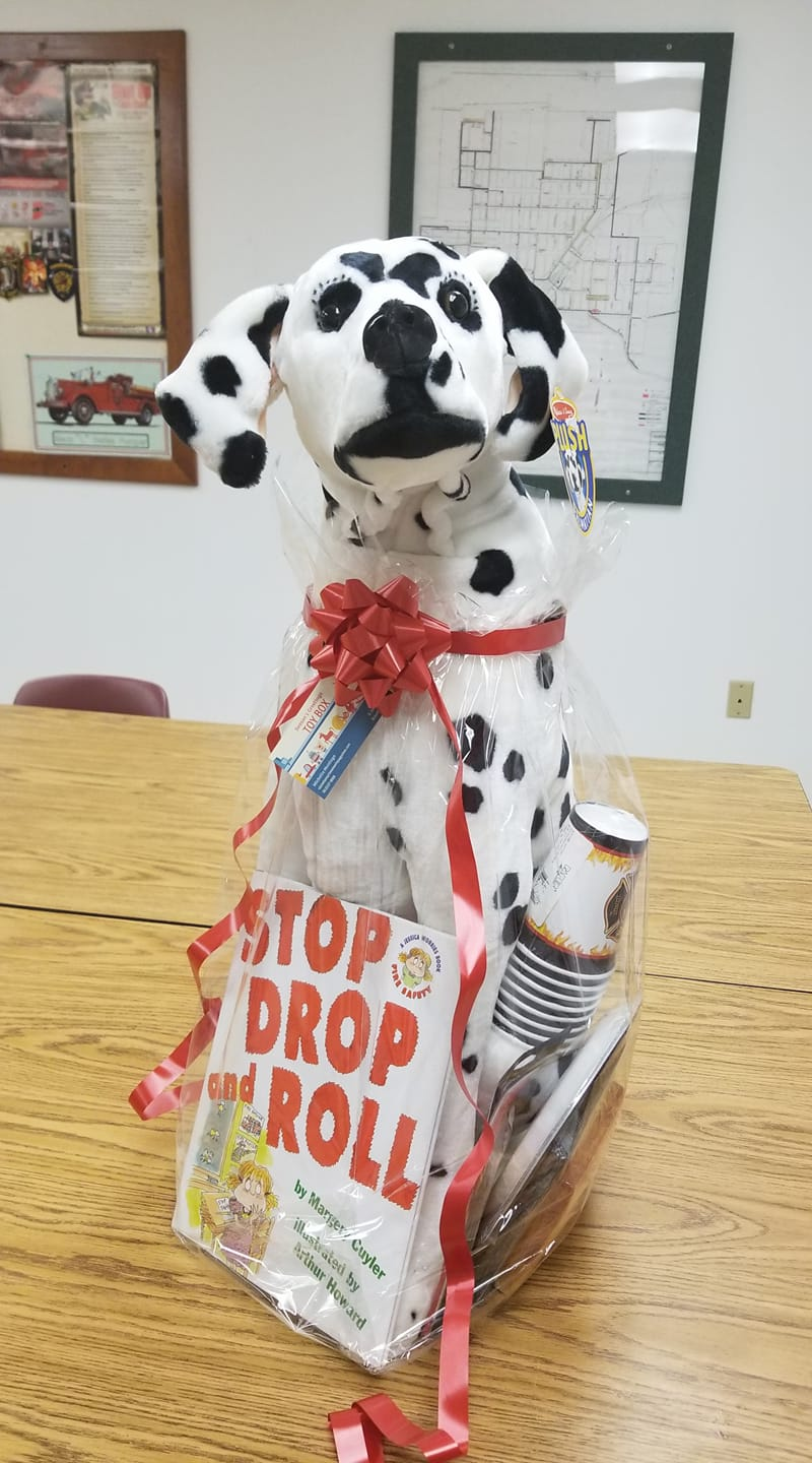 This donation from Season's Greetings in Bloomfield is one of many great items donated for the Silent Auction in the Worthington Firefighters fundraising event this Saturday. Photo Courtesy of Amanda Hale.