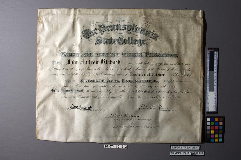 Parchment-Diploma-03-Before-RakingLight