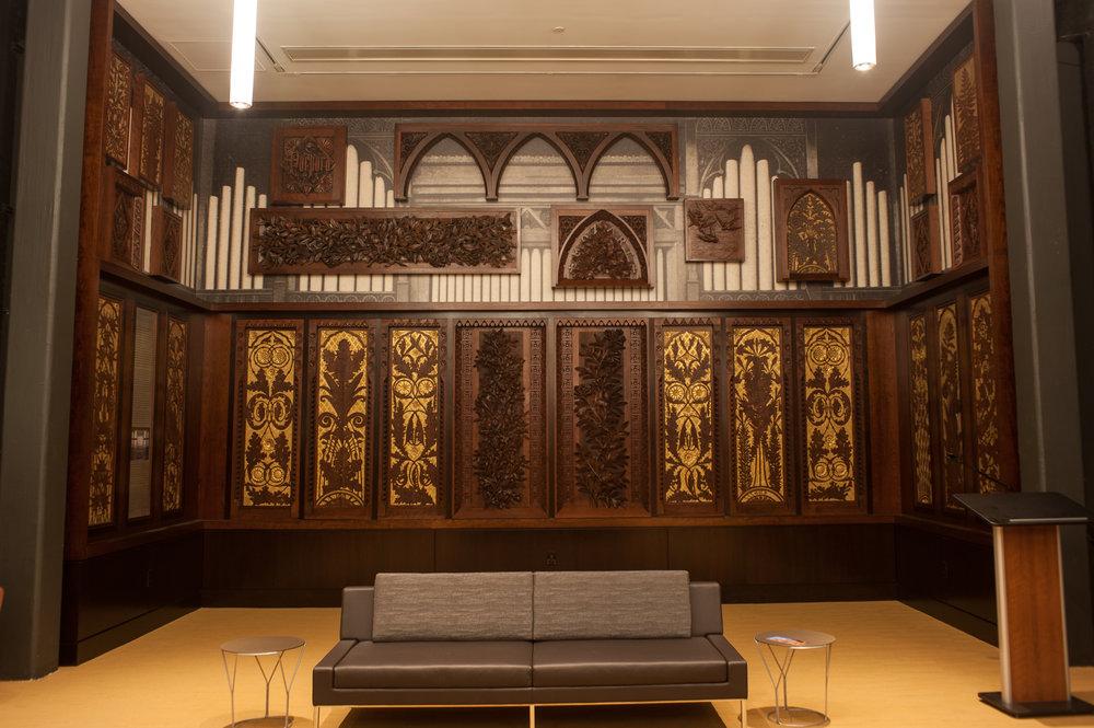 Panels installed in Taft room
