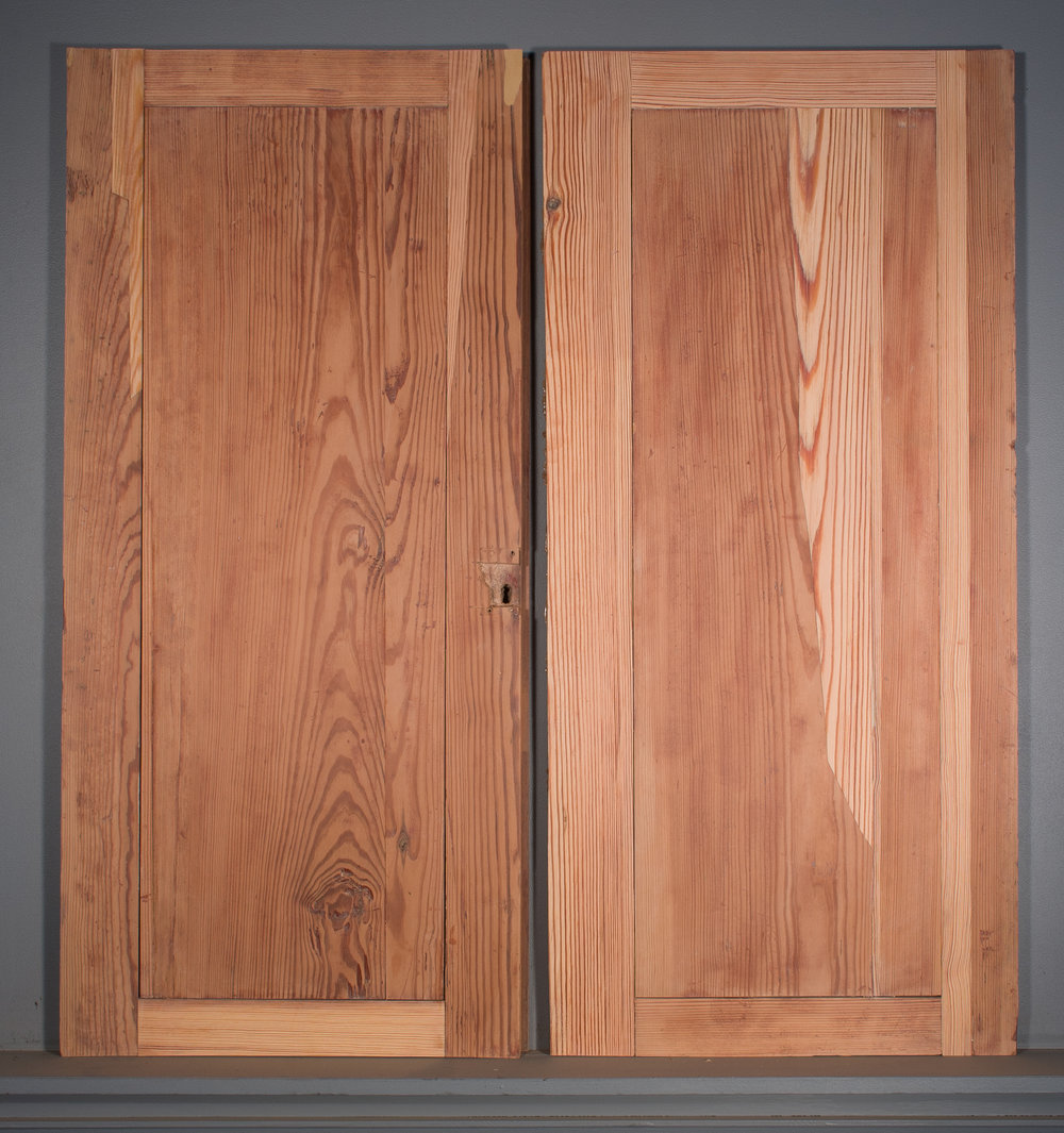 Long leaf pine restorations visible on verso of doors.