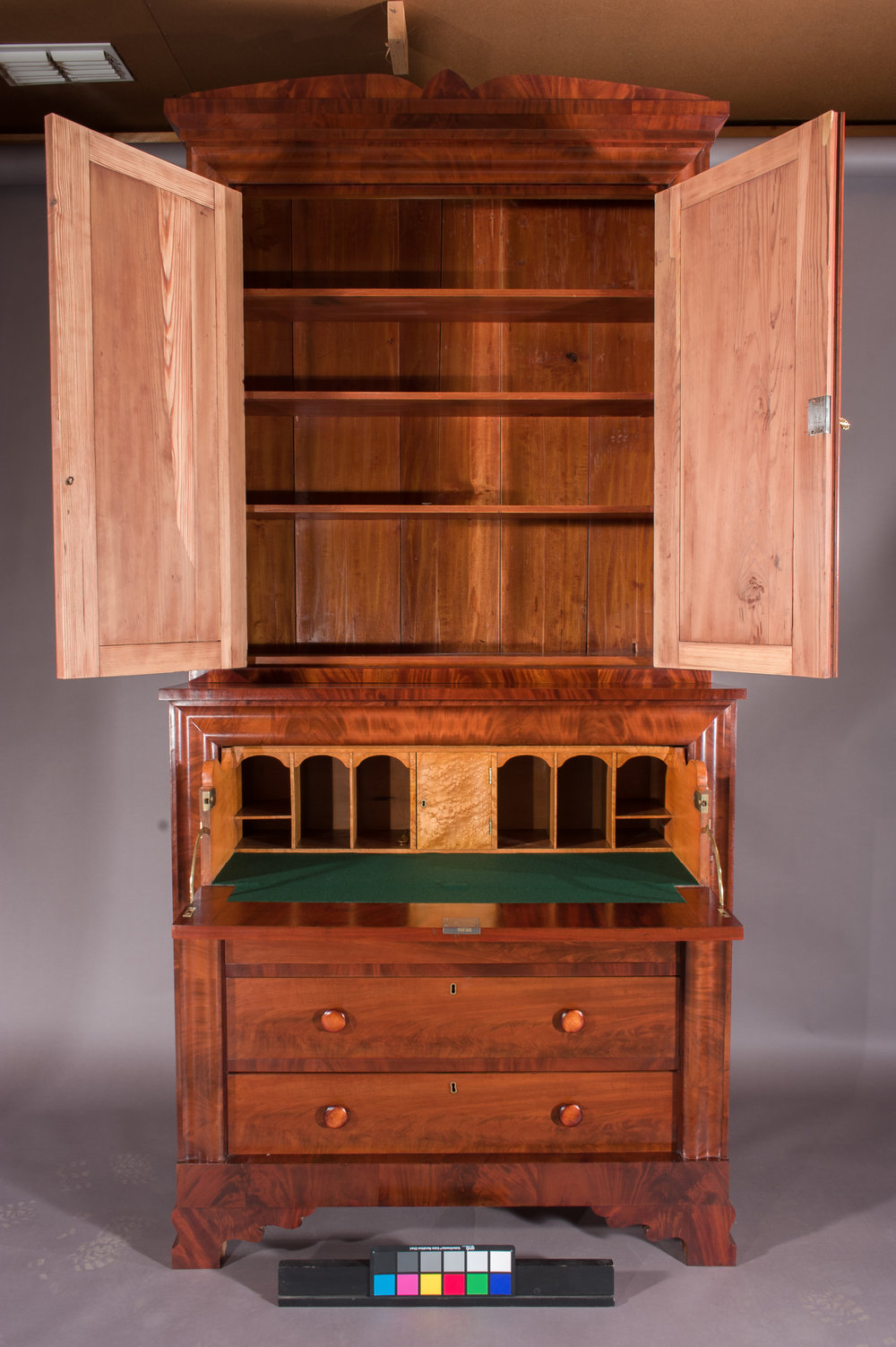 Secretary Bookcase completed - view of interior of bookcase