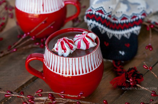 Paleo Hot Cocoa with Peppermint Cookies