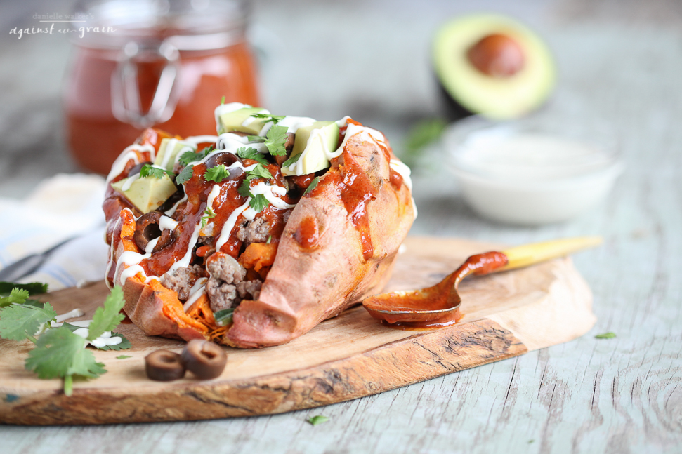 Against All Grain Enchilada Stuffed Sweet Potatoes