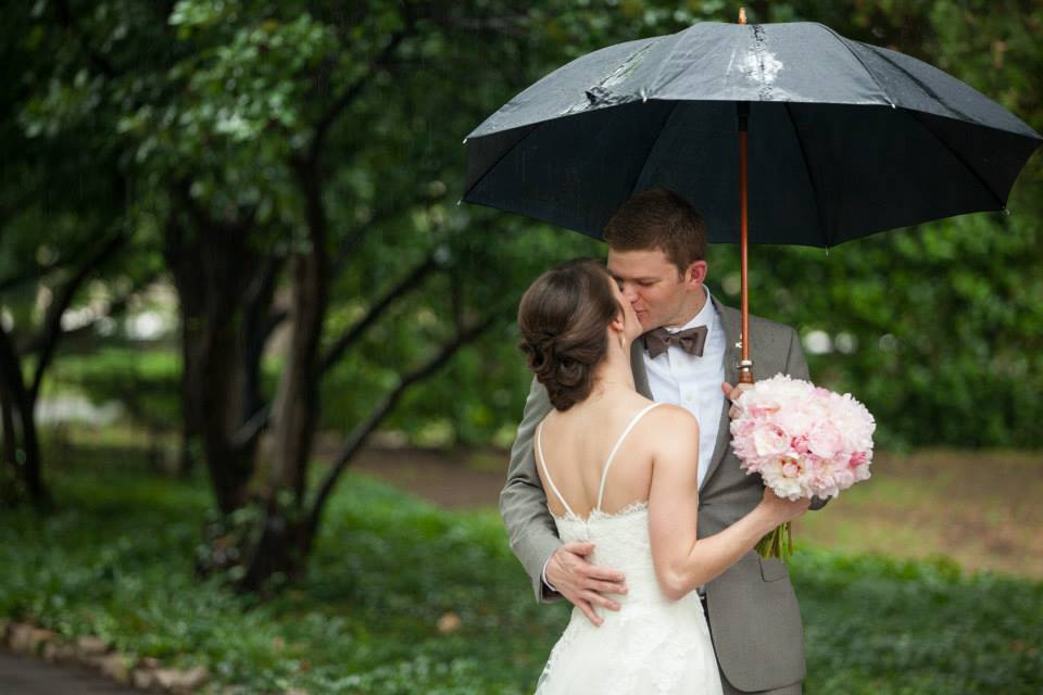 Photo by The Three Photography. This is my very favorite picture from our wedding day!