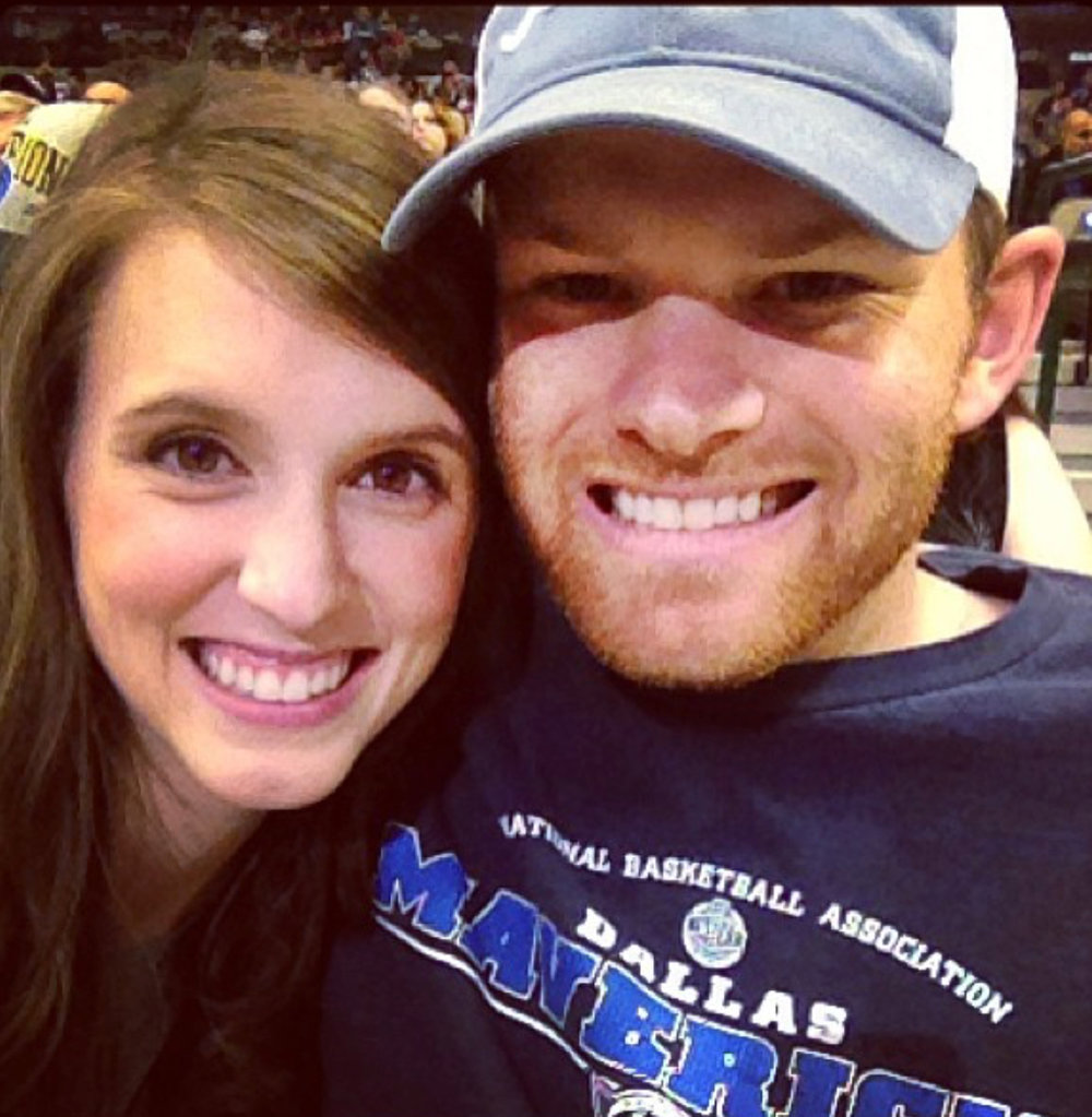 One of our early dates... Trey surprised me with Mavericks tickets!